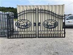 Greatbear 14' Bi-Parting Wrought Iron Gate