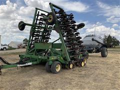 John Deere 1850 Air Drill & Flexi-Coil 2320 Cart