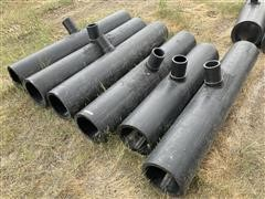 """10"""" X 4"""" Black Poly Pipe T Fittings"""