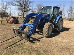 2013 New Holland T4.105 MFWD Tractor W/Loader