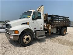 2004 Sterling Acterra S/A Stake Truck W/National Knuckleboom