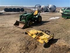 John Deere 4100 Compact Utility Tractor W/Mower Attachment