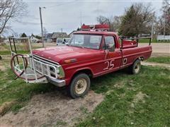1972 Ford F250 4x4 Fire Pickup