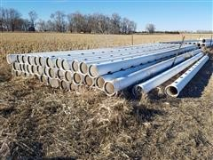 "Diamond 10"" Gated PVC Pipe"