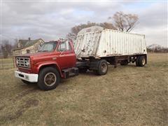 1976 GMC 6500 S/A Truck Tractor W/1996 Fab Tech 8x24 S/A Hopper Trailer