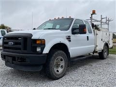 2009 Ford F350XL Super Duty 4x4 Extended Cab 4 Door Service Truck