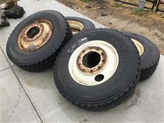 Dayton 11R22.5 Tires On Steel Rims