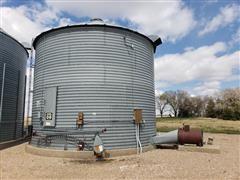 York 4,500 Bushel Grain Bin