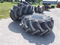 Firestone Champion Spade Grip 30.5Lx32 Rice Tires & Rims