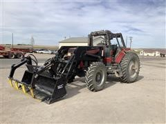 1993 Case IH 7120 MFWD Tractor W/Loader