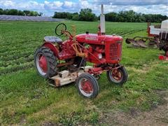 1945 Farmall A Cultivision Tractor W/Woods L59 Belly Mower