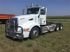 2009 Peterbilt 386 T/A Day Cab Truck Tractor