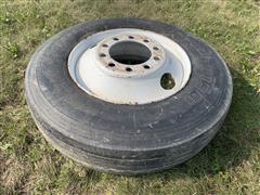 Bridgestone 11R24.5 Tire & Rim