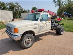1989 Ford F350 4x4 Cab & Chassis