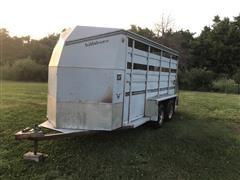 1990 Hillsboro T/A Livestock Trailer