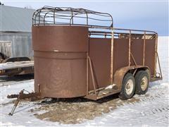 Shop Built Bumper Pull T/A Livestock Trailer