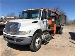 2013 International 4400 S/A Scrap Handler Dump Truck W/Knuckleboom Loader & Grapple