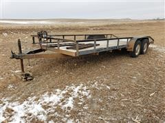 1999 Hull's T/A 20' Flatbed Trailer