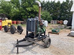 John Deere 4045T250 Diesel Power Unit On Cart