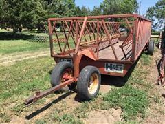 H&S 24' Tandem Hay Rack On Wheels