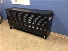 """2020 Siebel 72"""" 15 Drawer Black Work Bench On Wheels"""