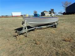 1979 Alumacraft Lunker Classic Boat W/EZ Loader Trailer (INOPERABLE)