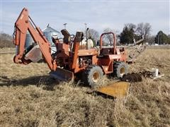 DitchWitch 7610DD 4x4x4 Trencher W/Backhoe & Backfill Blade