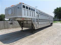 2016 Barrett Circle B P-408580 Double-Deck Tri/A Livestock Trailer