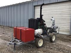 """2016 Gorman-Rupp 6"""" Portable Water Pump W/2001 JD PowerTech 6068T Power Unit"""