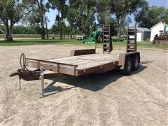 Homemade 7'x15' Flatbed Trailer W/5' Ramps