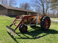 1953 Minneapolis Moline Z 2WD Tractor W/Blade Loader Attachment