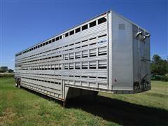 1974 Barrett T/A 48' Multi-Level Livestock Trailer