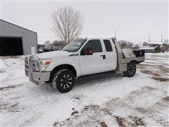 2013 Ford F250 4x4 Extended Cab Flatbed Pickup