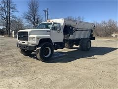 1993 Ford F750 Floater Dry Fertilizer/Lime Applicator Truck