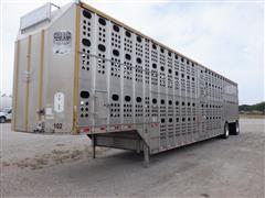 2008 Merritt Gold Line 53' T/A Spread Axle Multi-Level Livestock Trailer