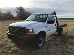 2001 Ford F250 4x4 Flatbed Pickup