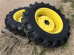 John Deere Rims W/Goodyear 13.6-28 Tires