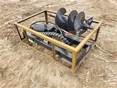 2020 Mower King SSECAG-Y Post Hole Auger Skid Steer Attachment