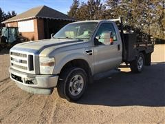 2010 Ford F250 4x4 Flatbed Pickup (INOPERABLE)