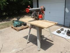 Rigid RS 1000 Radial Arm Saw And Stand