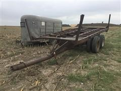 Homemade T/A Hay Trailer