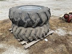 Firestone 14.9-24 R-1. 6 Ply Tires And Rims