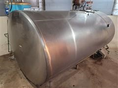 DEC 800 Gallon Stainless Steel Tank W/Cooler