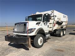 2012 International 7400 T/A Feed Truck W/8052 MMI Feed Mixer