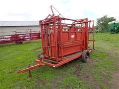 Stur-D Portable Cattle Working Chute W/Headgate