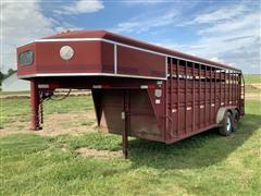 1998 Titan 7 X 20 T/A Livestock Trailer