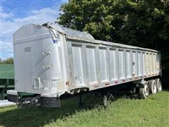 2005 Travis 34' T/102 Tri/A Aluminum End Dump Trailer
