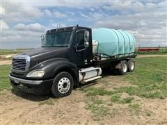 2003 Freightliner T/A Flatbed Truck W/Tank