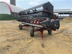 Case IH 1020 22.5' Platform Header W/Header Cart