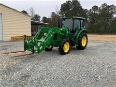 2016 John Deere 5085E MFWD Tractor W/Loader & Attachments